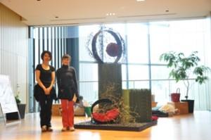 アートフラワーコンクール Tokyo Midtown 牧野先生と一緒に記念撮影